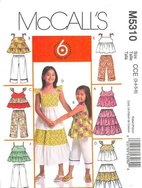 4f2dc911da64a MCCALLS 5310 - FROM 2007 - UNCUT - CHILDRENS   GIRLS TOP