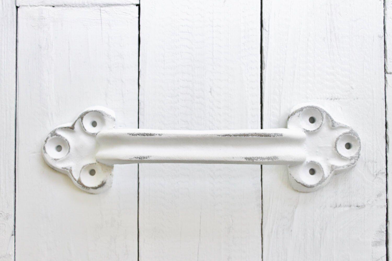 Large Iron Door Handle Towel Holder Barn Door Pull Home Fixtures Door Handle Pull Handle Supplies Black Handles New Home Barn Door Handles Door Handles Discount Interior Doors