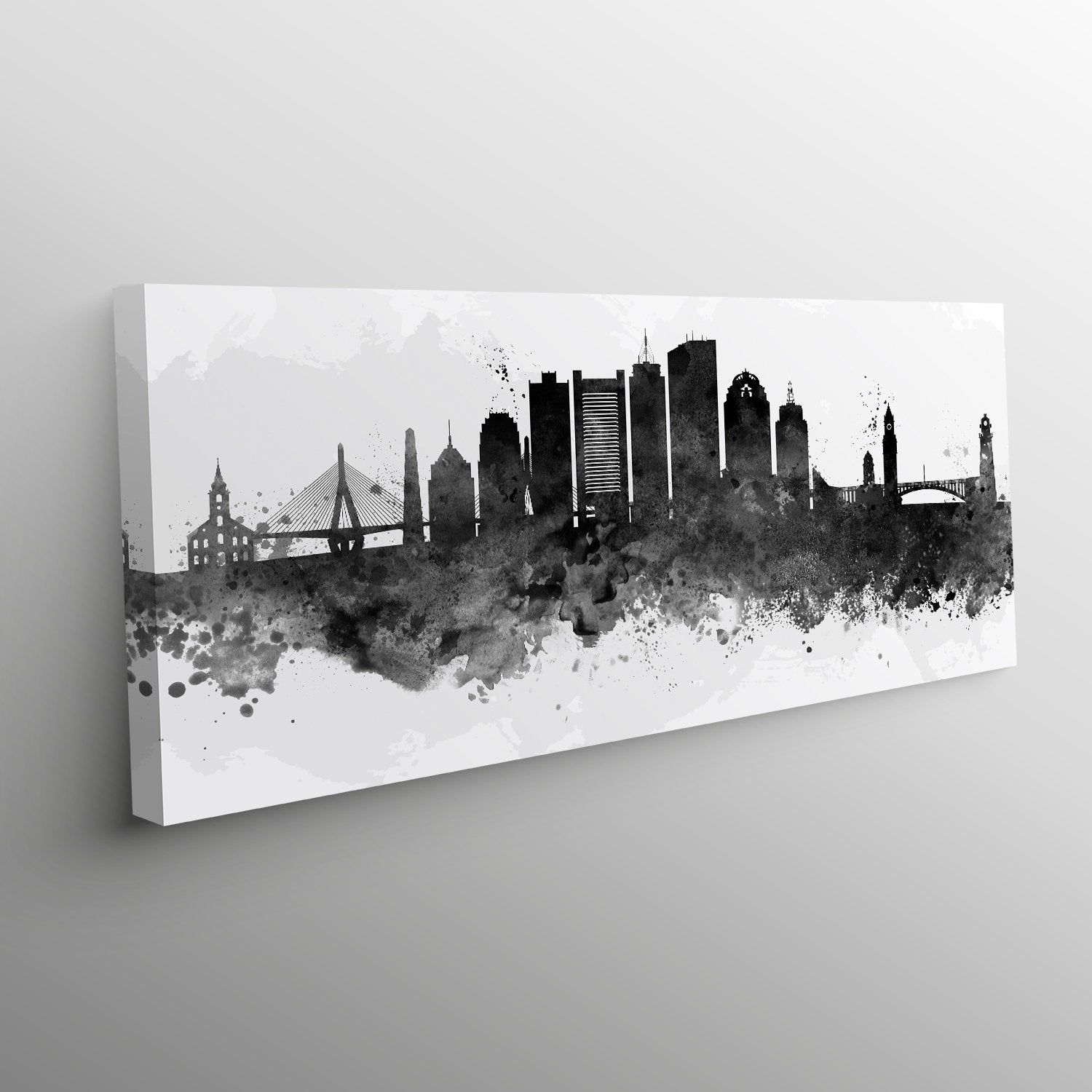 Pin On Canvas Watercolor Skyline Prints