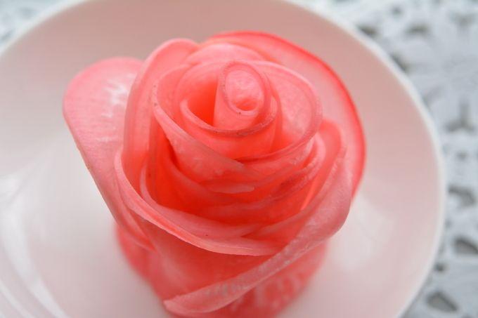 バレンタイン♪赤かぶローズ(才能応援プロジェクト 料理家部門) : Marikoの家ごはん