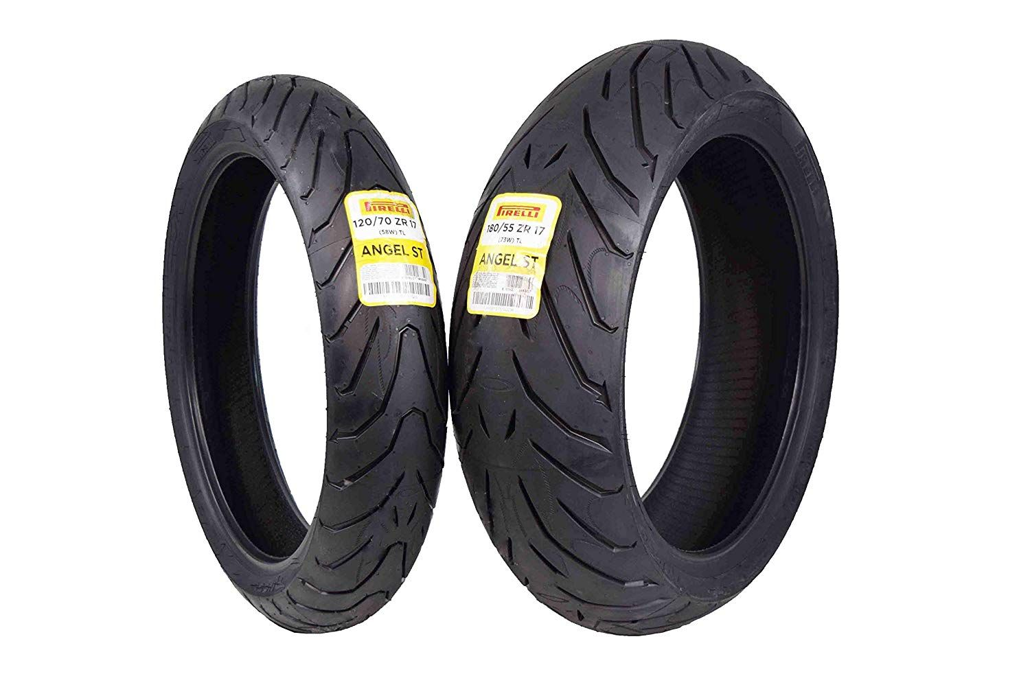 Pirelli Angel St Front And Rear Street Sport Touring Motorcycle Tires 1x Front 120 70zr17 1x Rear 180 55zr17 You Ca Motorcycle Tires Sport Touring Pirelli