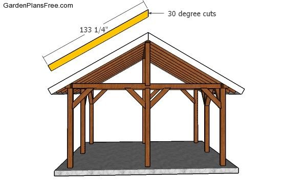 14×16 Outdoor Pavilion Plans - Free PDF Download | Outdoor ...