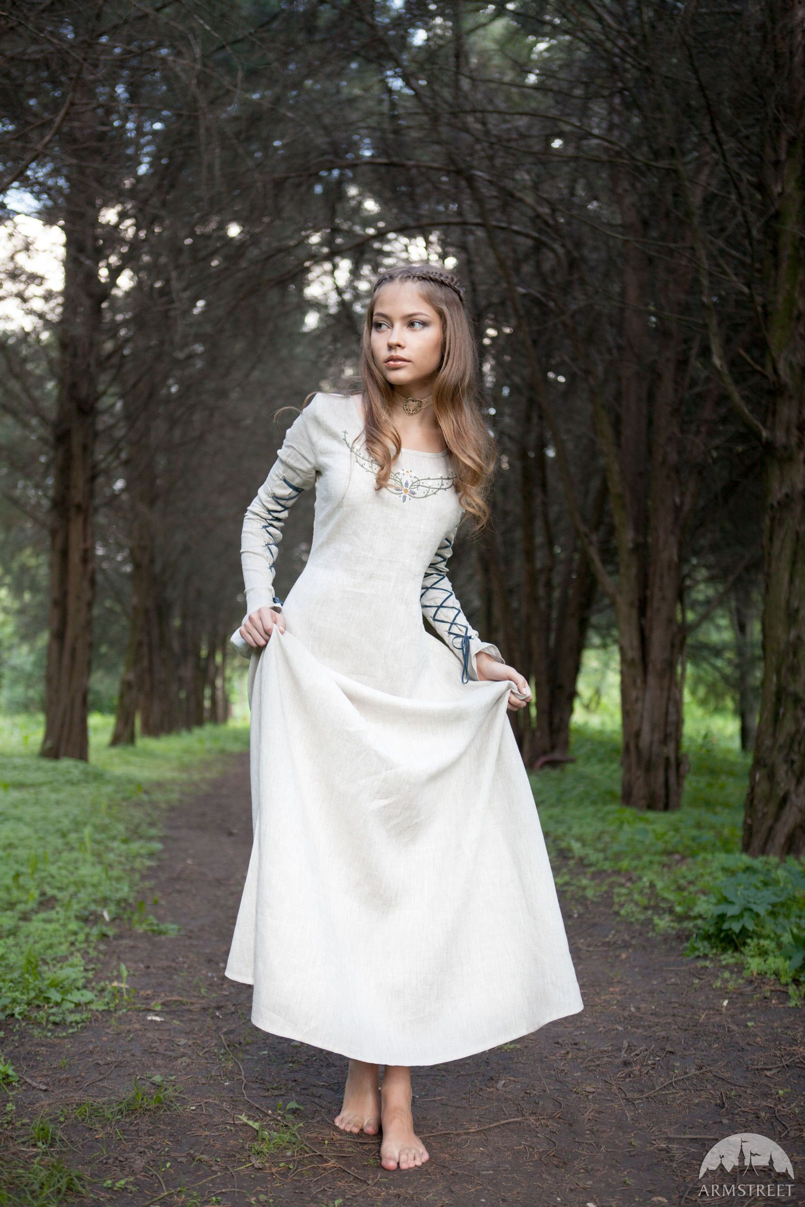 "Fairy Tale"" Linen Dress | Dresses, Fantasy dress, Medieval dress"
