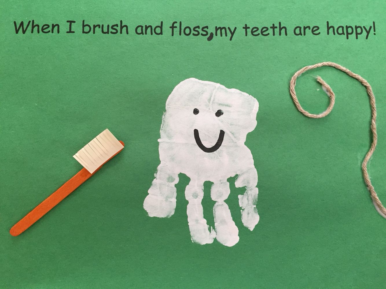 Handprint Dental Health Month February Craft