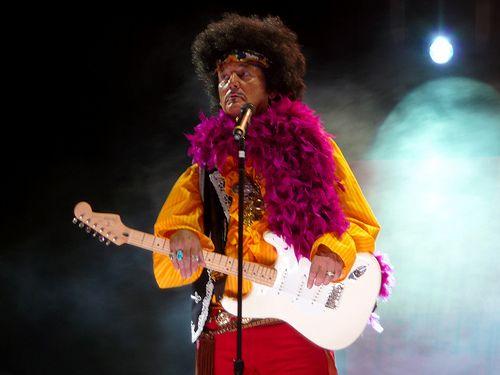 Crossroads Festival 2010 - Bill Murray as Jimi Hendrix