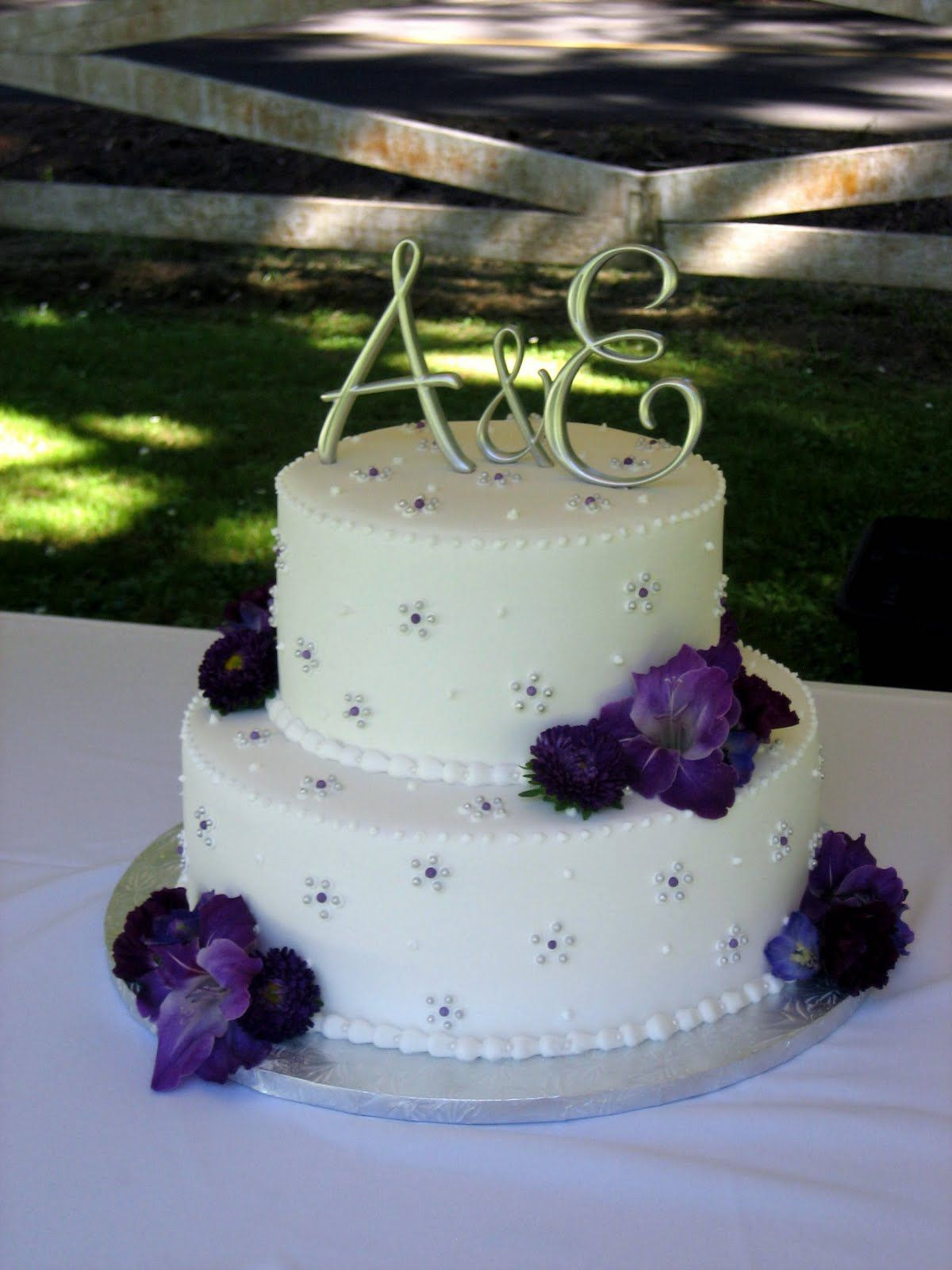 Three Purple Wedding Cakes Wedding Cakes Simple Purple Simple