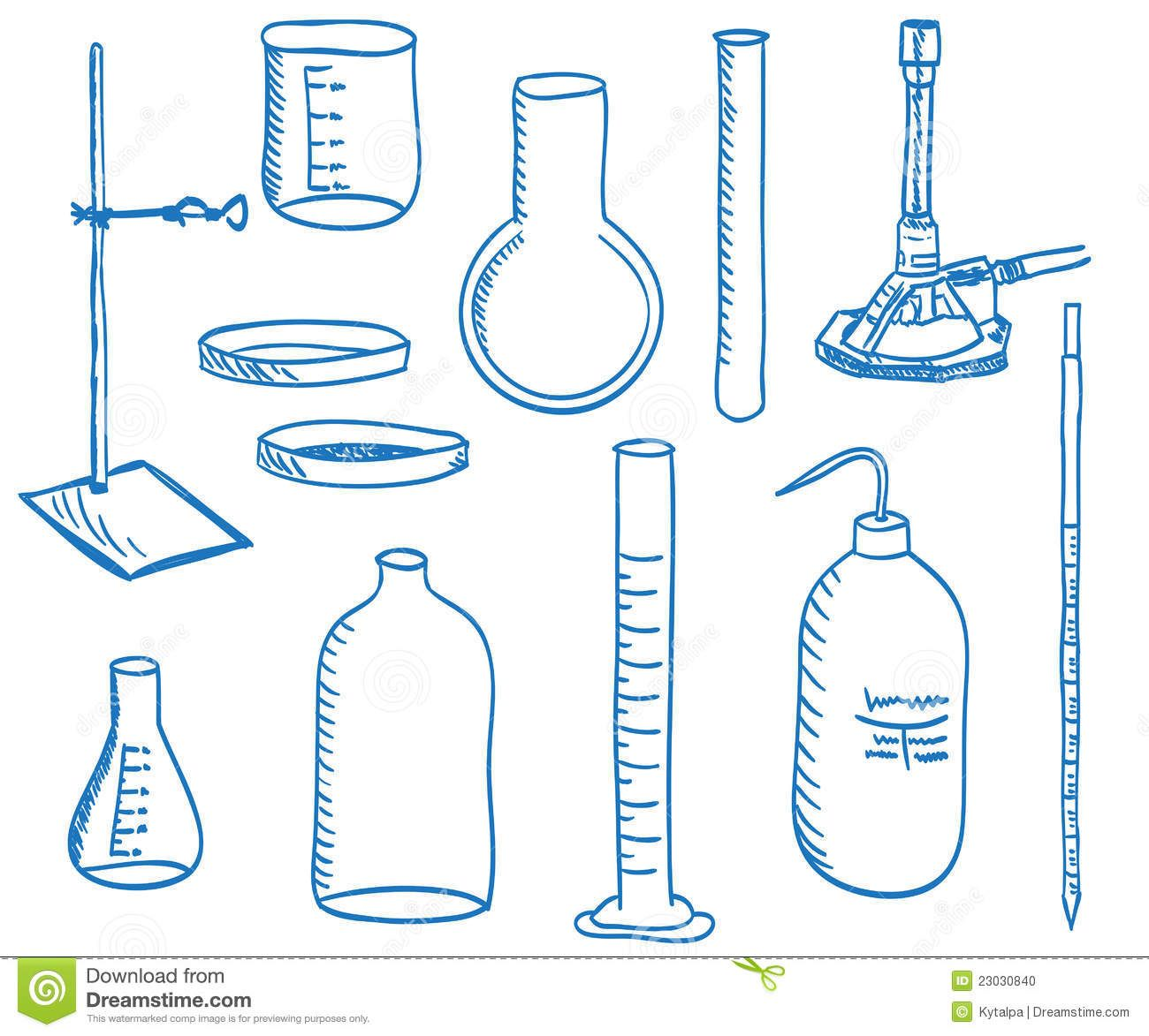 how to draw science equipment