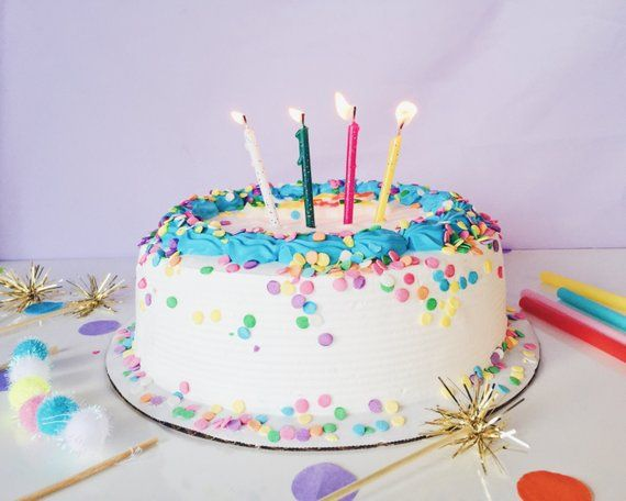 Glitter Mixed Fun Cake Candles