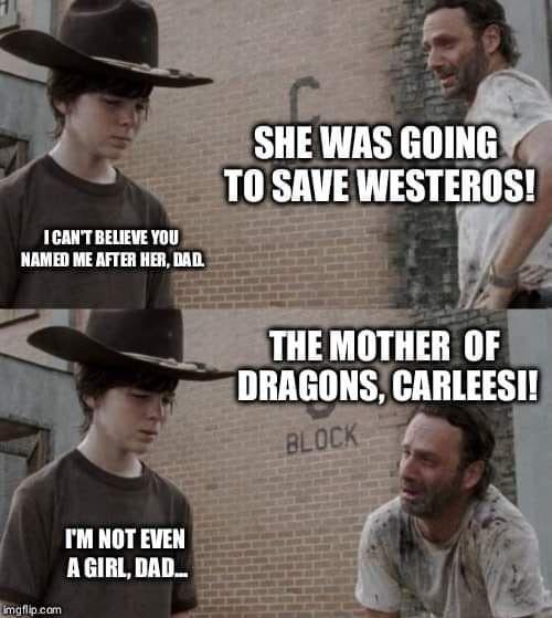 Walking Dead/GOT Meme Crossover. I've Missed Coral/Dad