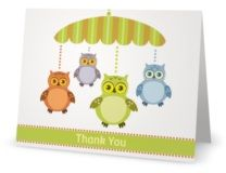 Thank You Folded Note Cards baby shower child