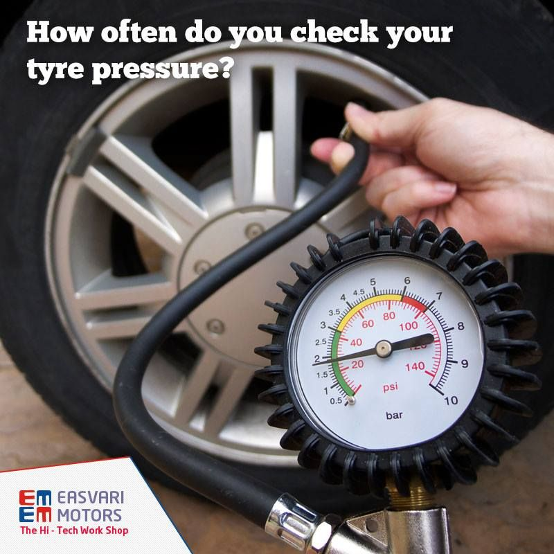 How often do you check your tyre pressure?