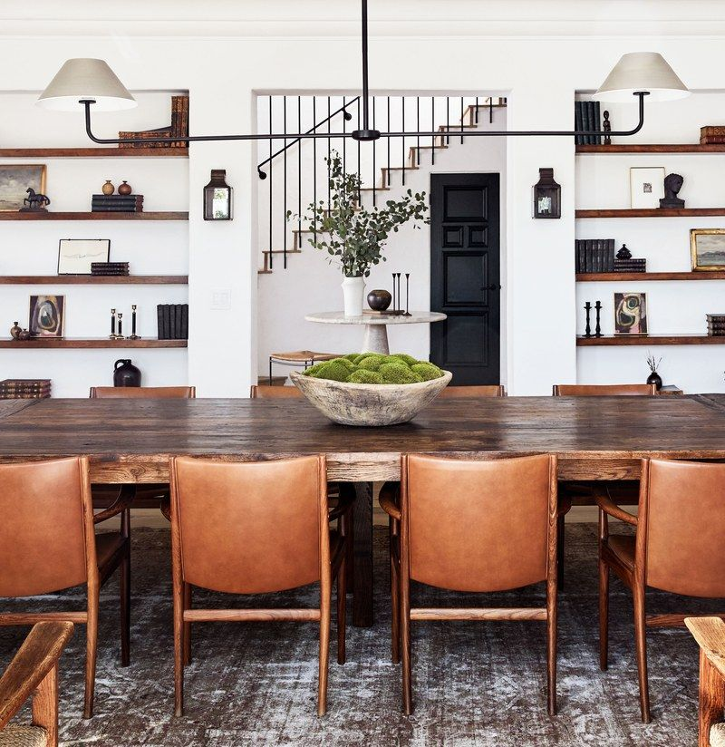 A Creative Power Couple's Spanish-Colonial Retreat in L.A. #diningroom
