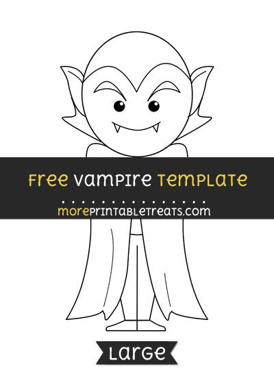 Free Vampire Template  Large  Halloween Printables