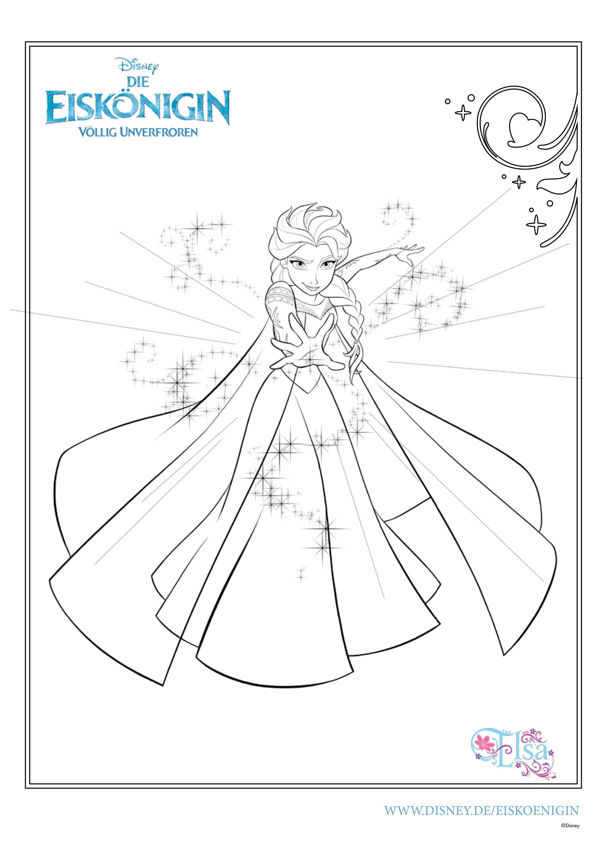 Ausmalbilder Eiskönigin Coloring Pages Ausmalbild Eiskönigin