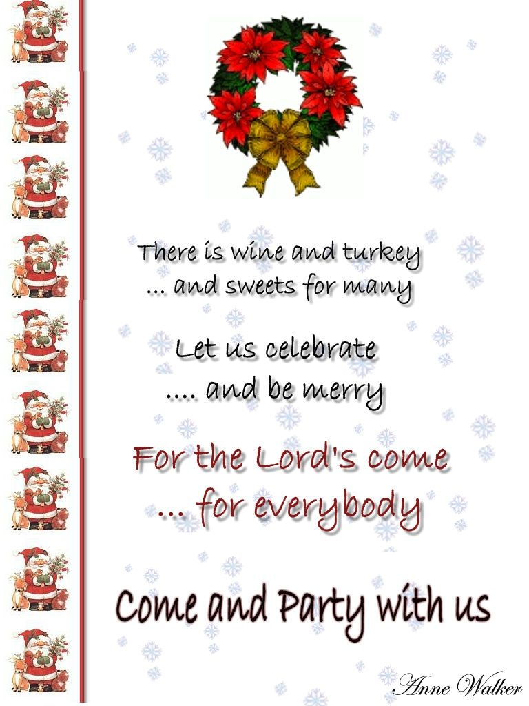 Christmas party invitation wording, Funny