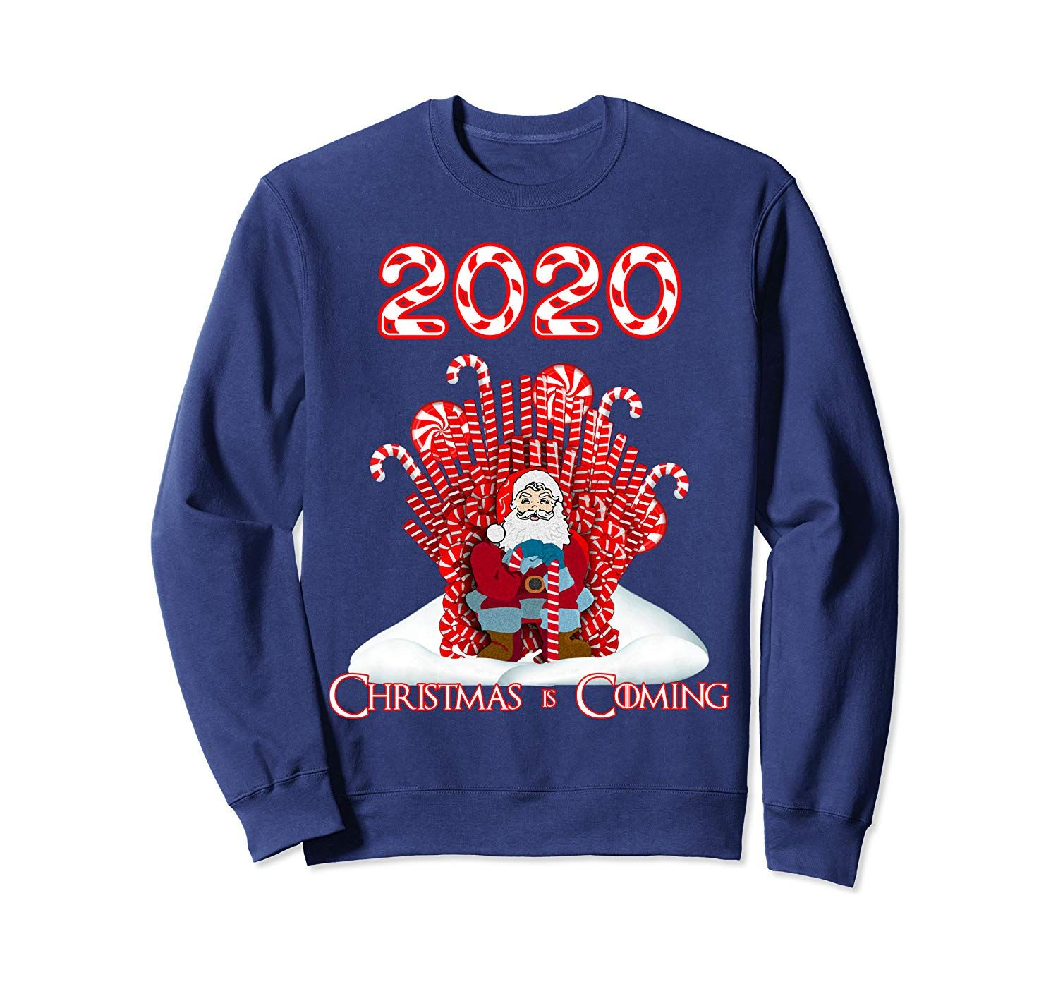2020 Christmas Is Coming Santa Candy Canes Throne Xmas