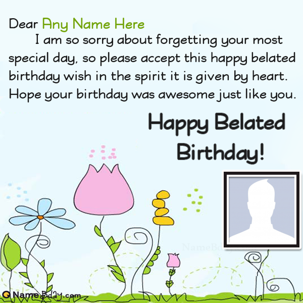 Happy Belated Birthday Wishes For Sister With Name