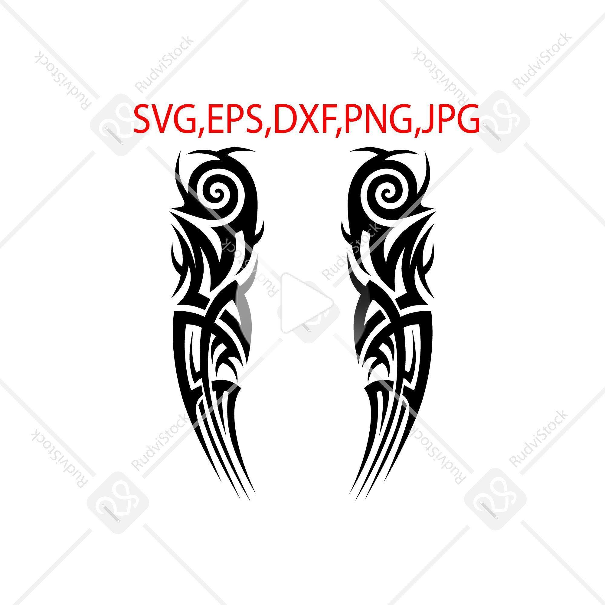Tattoo Svg Tribal Tattoo Designs Tribal Sleeve Tattoo Stencil Svg Tattoo Svg Files For Cricut In 2020 Tribal Tattoo Designs Tribal Tattoos Tribal Sleeve