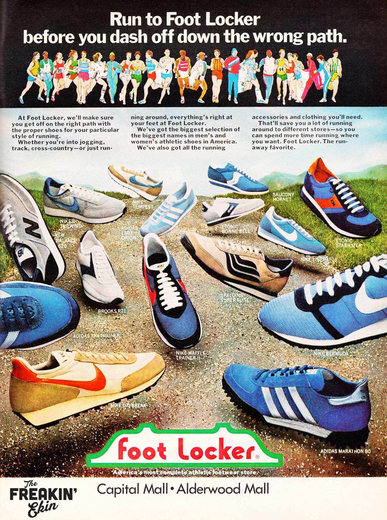 a4ca73d847bfd 1980 Foot Locker sneaker print ad   The Freakin Ekin
