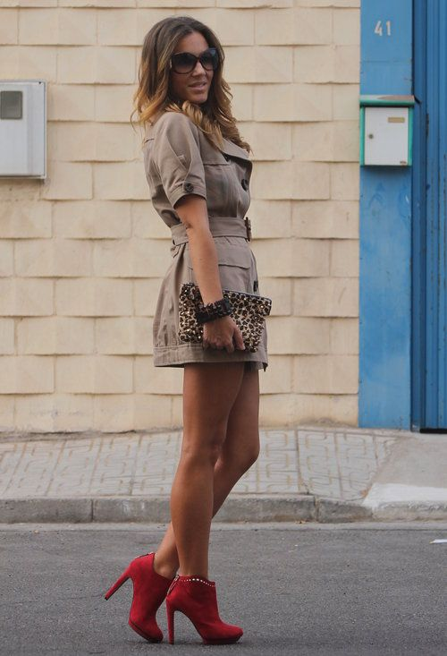 Vestidos elegantes cortos con botines