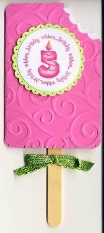 Image result for handmade cards with popsicles card box image result for handmade cards with popsicles girl birthday cardschildren bookmarktalkfo Images