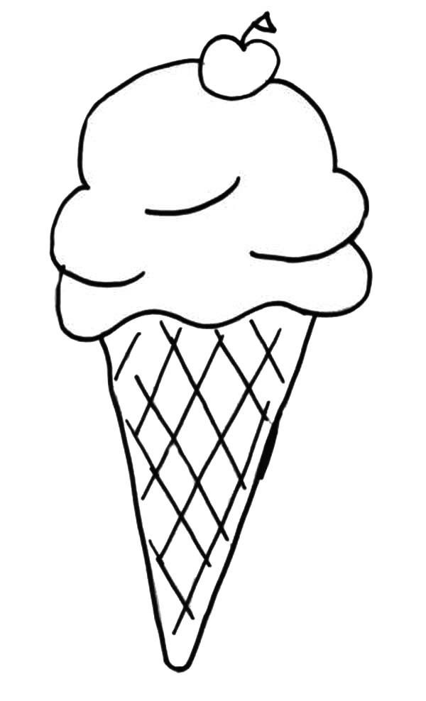 Pin Di Ice Cream Coloring Page