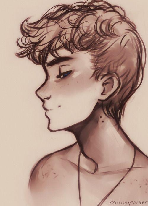 Drawings Of Cute Boys : drawings, Living, Charmed, Life., Drawing,, Drawings,, Drawings