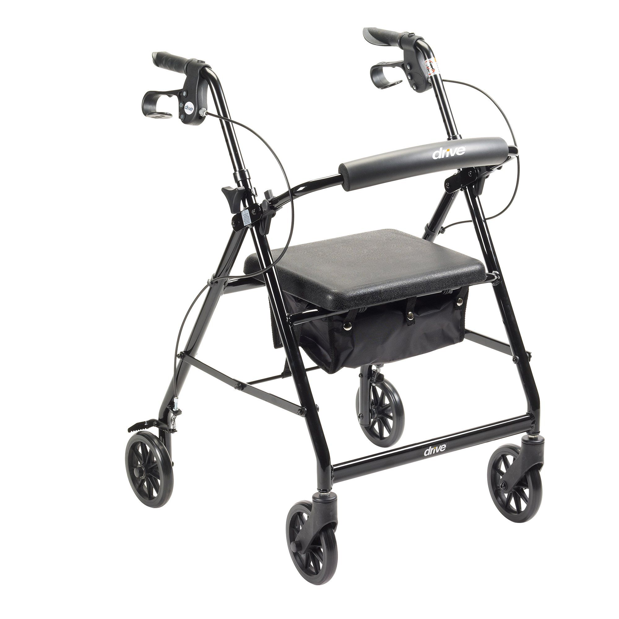 "Walker Rollator with 6"" Wheels, Fold Up Removable Back"