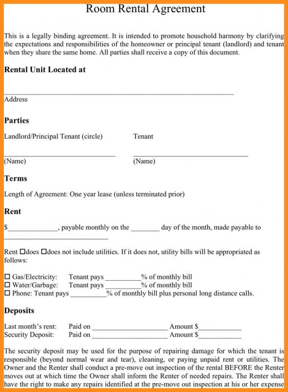 Simple Rental Agreement Month To Month Room Rental Agreement Rental Agreement Templates Lease Agreement Free Printable