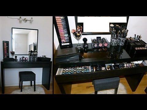 Diy Makeup Table Ikea Malm Vanity Organization Storage How