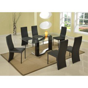 Chintaly Fenya 7 Piece Dining Table Set WALMART