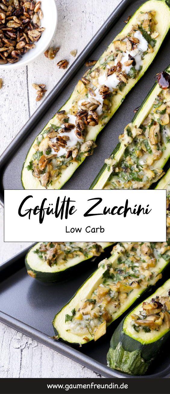Photo of Stuffed zucchini with mushrooms and garlic yogurt – low carb