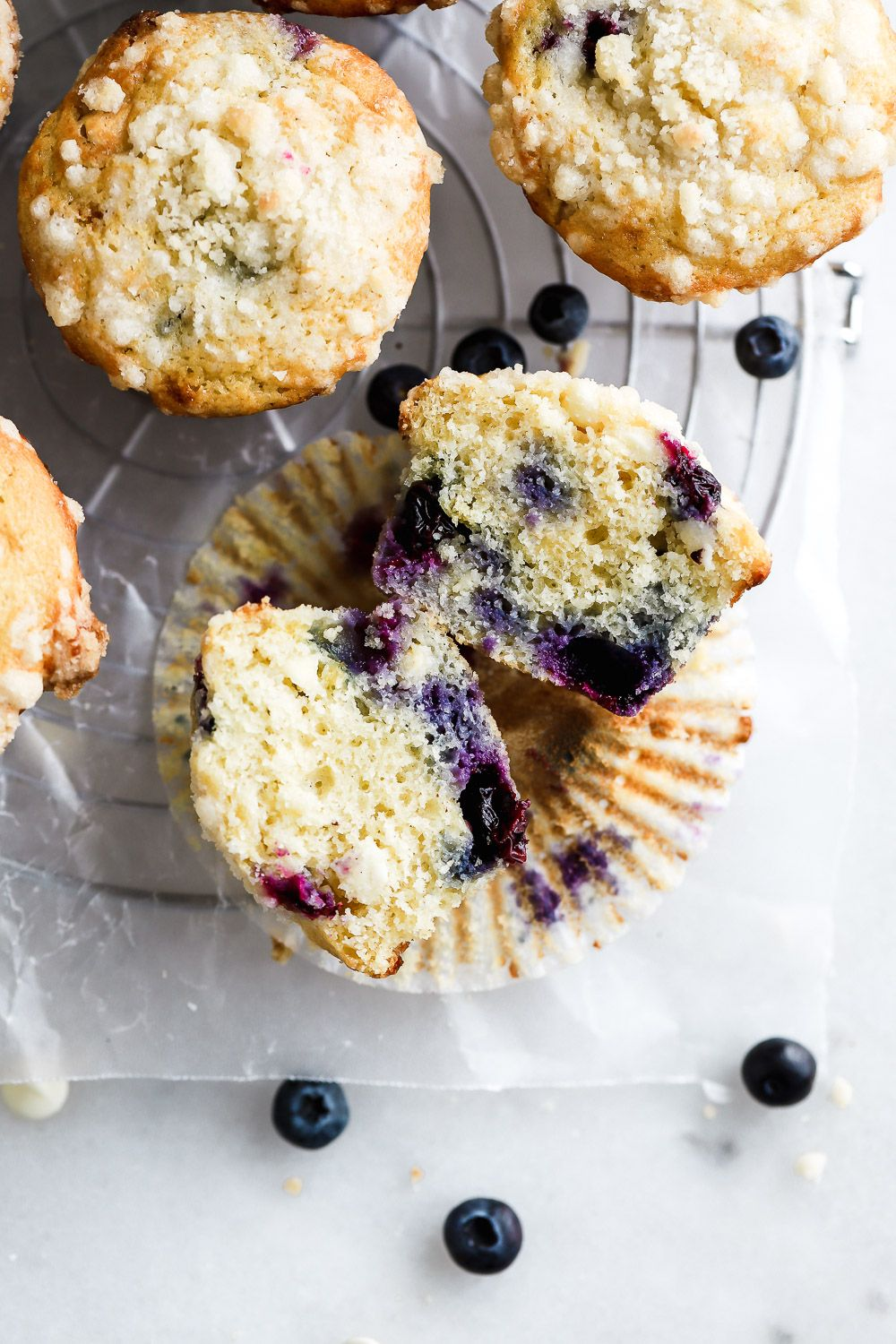 Buttermilk Blueberry Streusel Muffins With White Chocolate Recipe In 2020 Blue Berry Muffins Chocolate And Blueberry Muffins Muffin Recipes Blueberry
