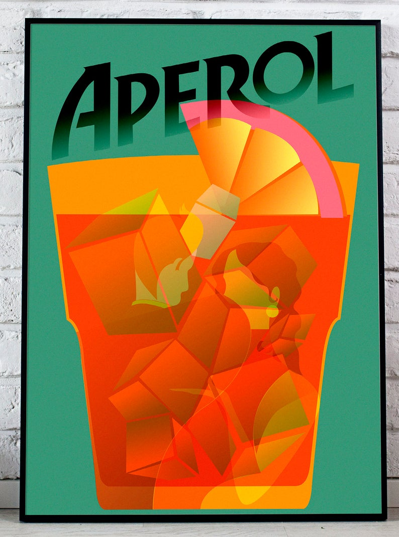 Canvas vintage aperol Art Print Poster