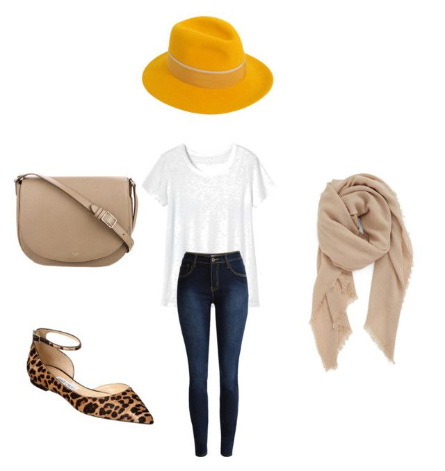 """""""Untitled #16"""" by michellelinares on Polyvore featuring Maison Michel, Toast, BP., Jimmy Choo and CÉLINE"""