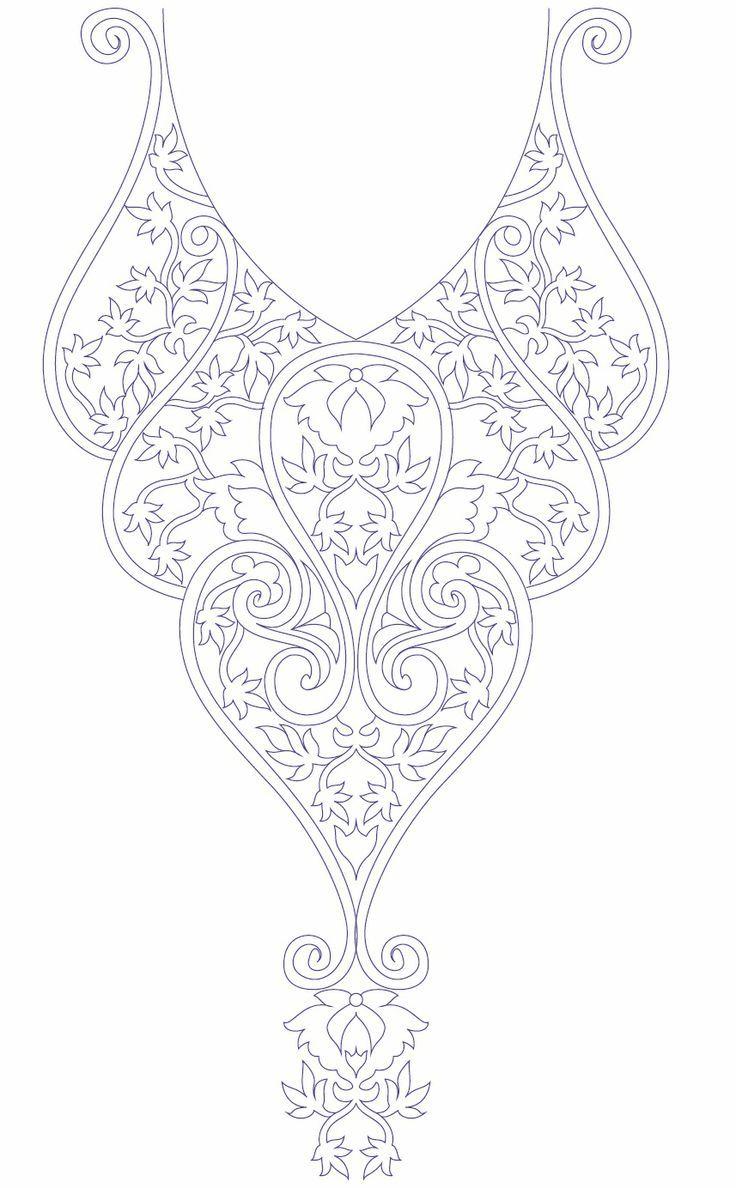 Hand embroidery designs for kurtis neck | Costura & Bordado | Pinterest