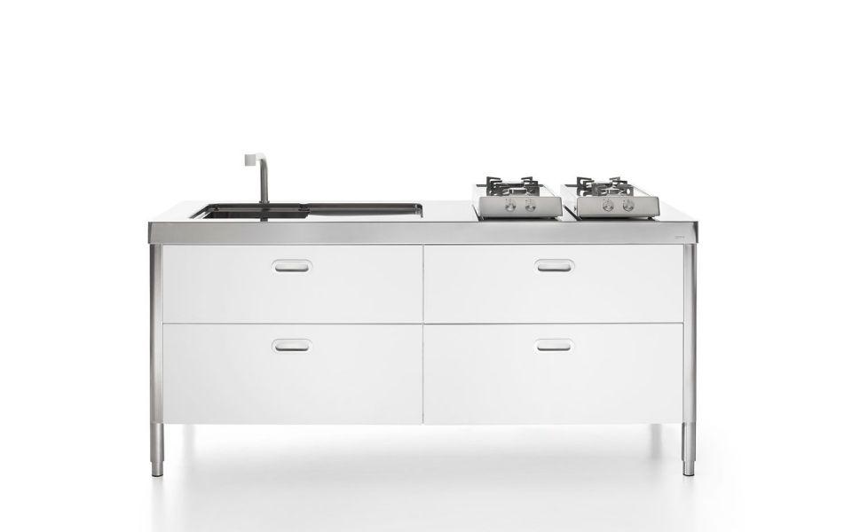 Cucine in acciaio inox cucine su misura cucine modulari for Cucine modulari