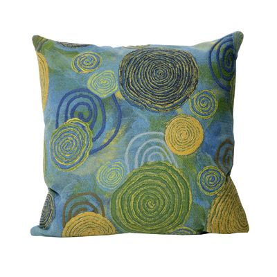 Graffiti Swirl Cool Outdoor Pillow by Liora Manne by TransOcean