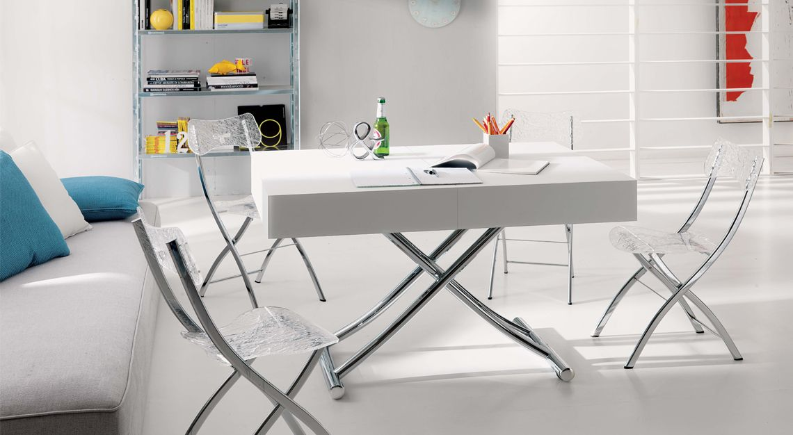Ozzio Italia Magnum Transformable Table Dining Tables Sklar Furnishings Modern Chairs Folding Dining Chairs Table