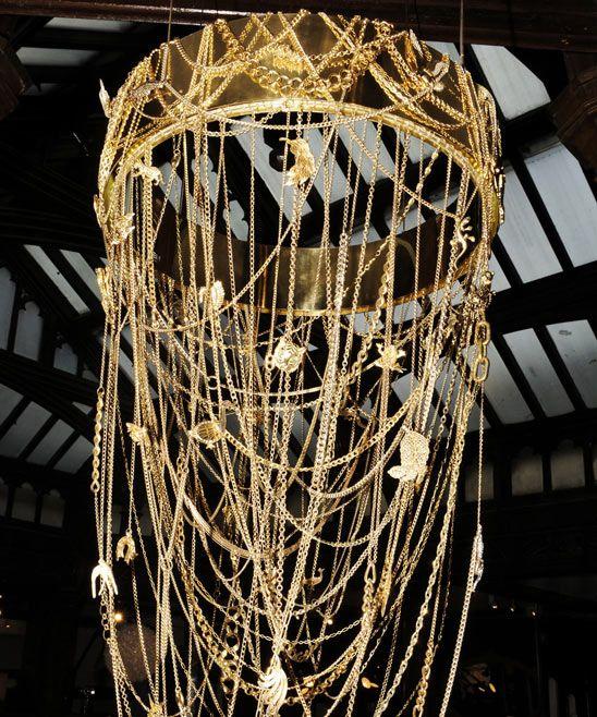 Golden Safari Chandelier from Eva Menz LIGHT Pinterest - menz holz katalog
