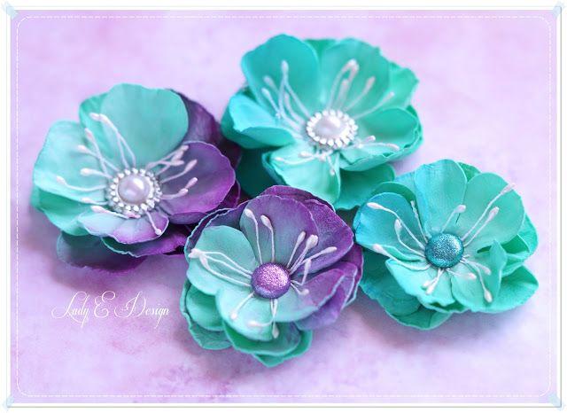 Flowers Handmade Blog Kurs Na Kwiatki Z Foamiranu Metoda Na Goraco Wycin Floral Rings Floral Flowers