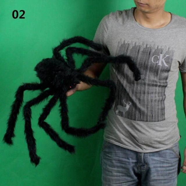 Big Black Spider Scary Toy Animal Horror Halloween Props Decoration - scary halloween props