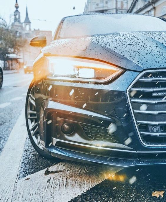 Beautiful Audi S6 Quattro In The Snow. High-end Luxury
