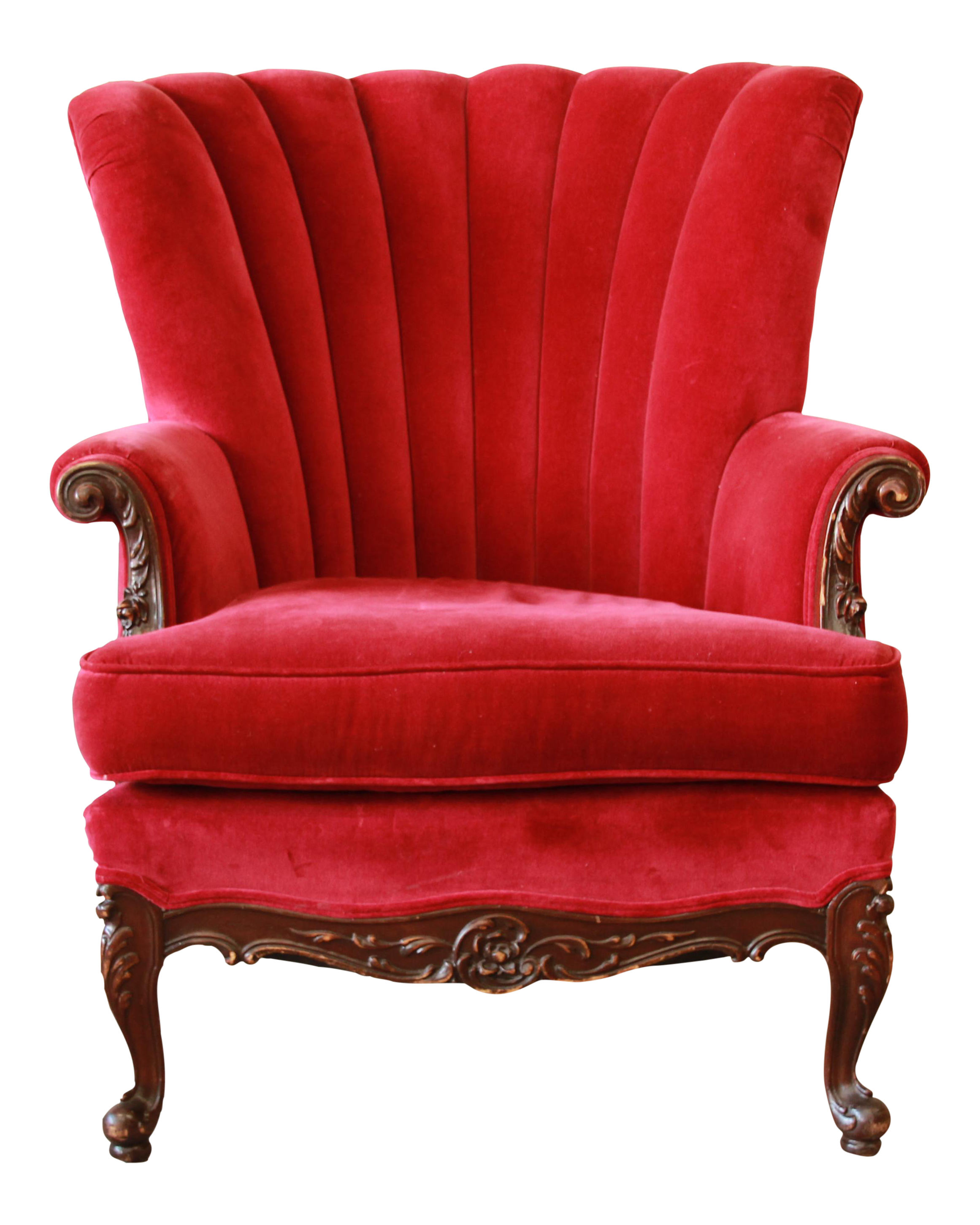 Best 1930S French Mahogany Red Velvet Armchair On Chairish 400 x 300