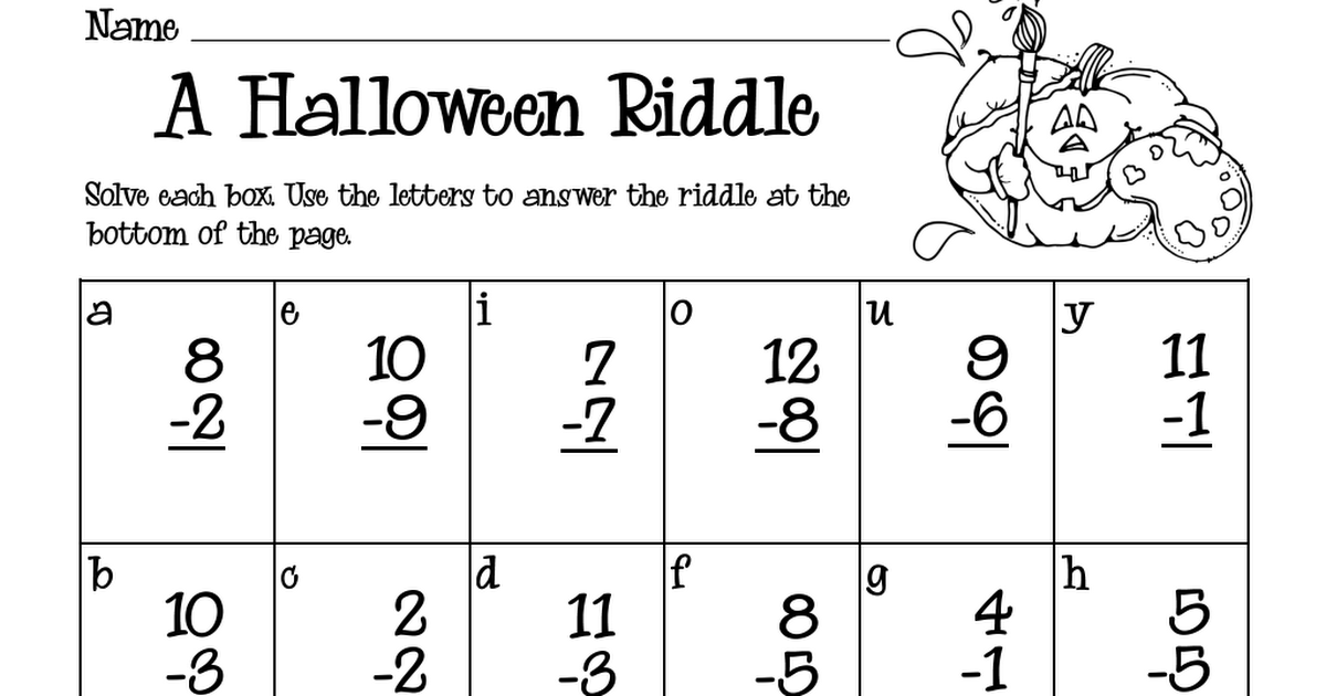 Halloween Riddle 2.pdf Riddles, Halloween riddles, Halloween