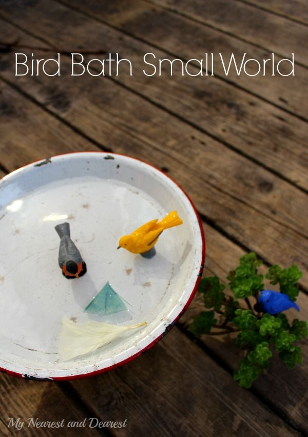 Bird bath pretend play for toddlers and preschoolers. A simple ...