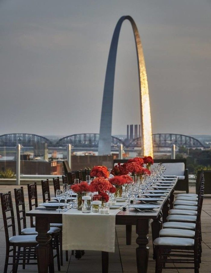 Sky Terrace Cielo Restaurant Bar Four Seasons Hotel St Louis Been Here Very Neat
