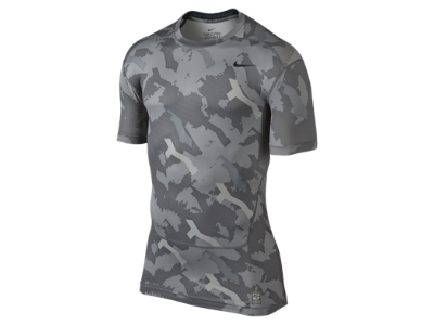 Nike Men's Pro Combat Core Sleeveless Compression Shirt Grey