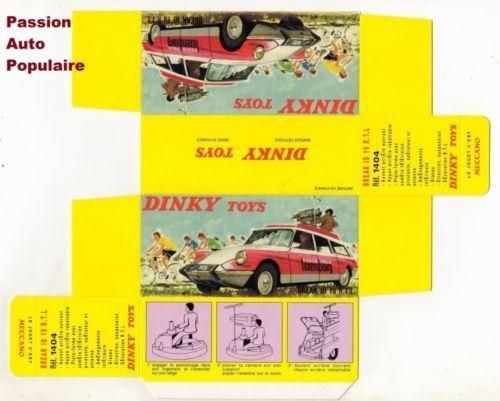 REPRO BOX DINKY n 1404 CITROEN BREAK ID 19 RTL