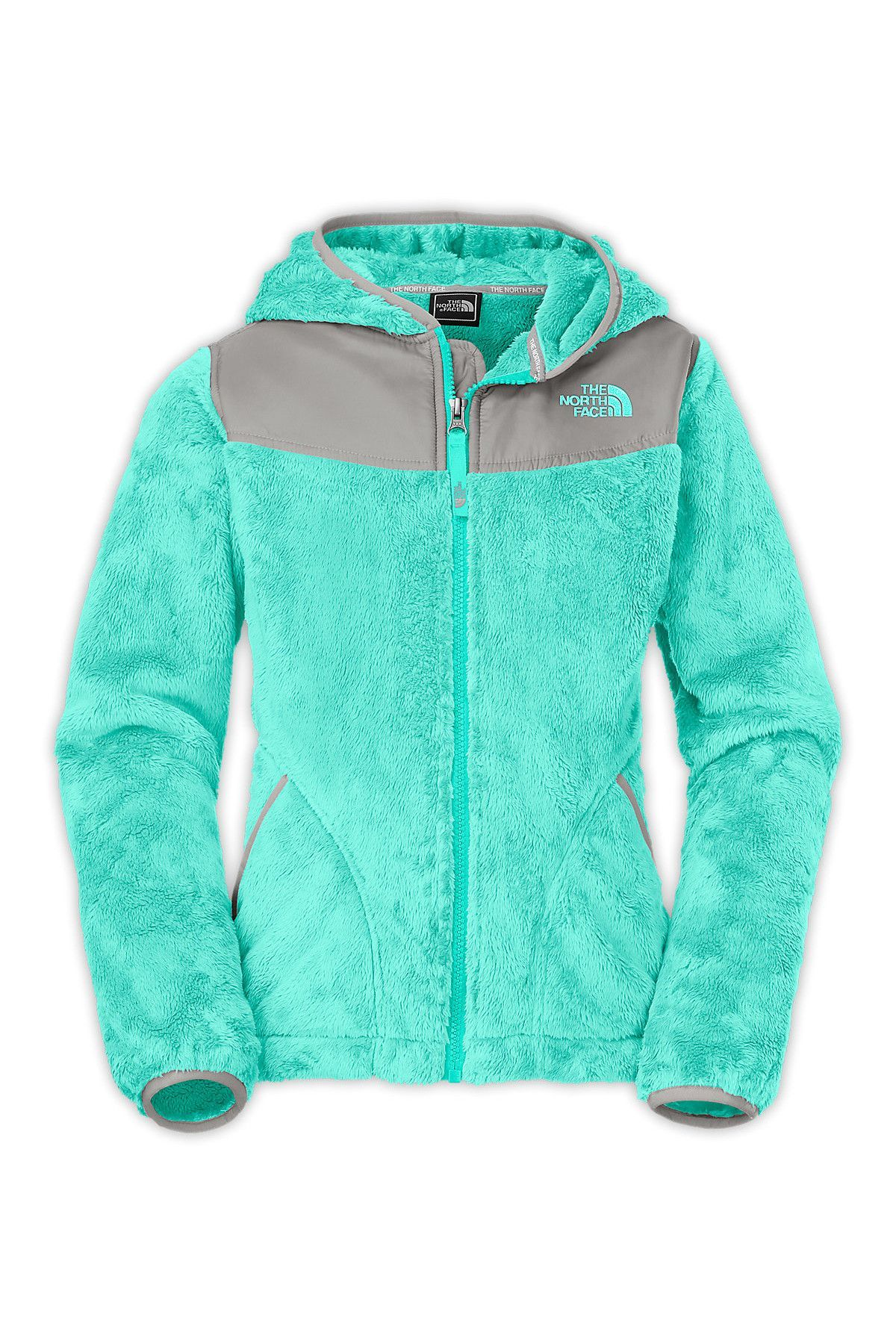 3559a91edde1 Turquoise fuzzy north face with a hood! G Oso Hoodie size L